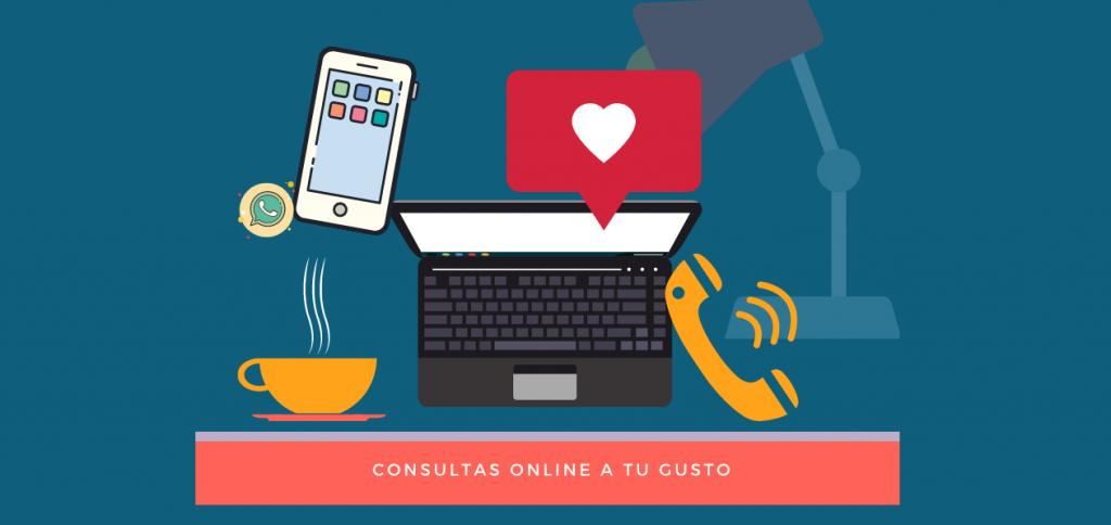 ¿Cómo trabajamos en la consulta online?